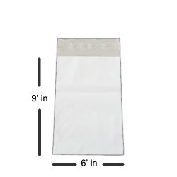"Premium 6 x 9"" White Poly Mailer - 2.5 mils Thickness"