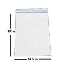 "Premium 14.5 x 19"" White Poly Mailer - 2.5 mils Thickness"