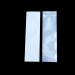 Syringe White Barrier Bags With Clear Front, White Back, Silver Metalized Interior