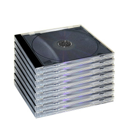 10.4mm Standard Single Black Tray Assembled CD Jewel Case