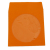 Orange CD DVD Paper Sleeves with Clear Window