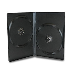 14mm Black Standard Double DVD Case