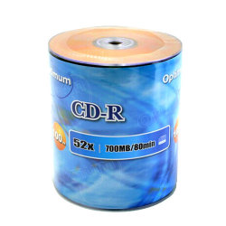 Branded Gold Top 52X CD-R Blank Media Discs in Tape Wrap